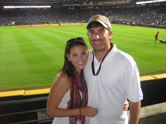 Darren & Lindsey - Braves playoff game, October 2010