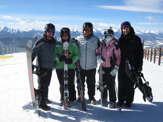 The whole group on day 3 of skiing