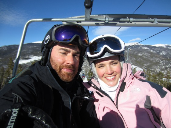 So bright on the ski lift!